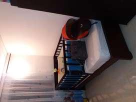 cama cuna en madera