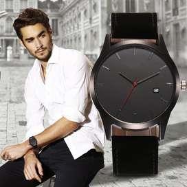 Reloj alleviare ilusion of time cuero gamuza calendario fecha hombre caballero analogo
