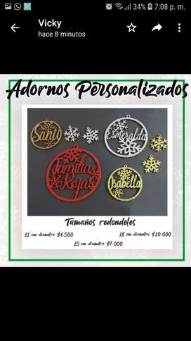 Adornos Navidad Personalizados Hermosos!!