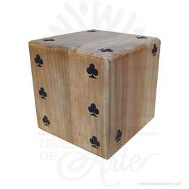 Dado gigante en madera de pino 10 x 10 x 10 cm- Precio COP
