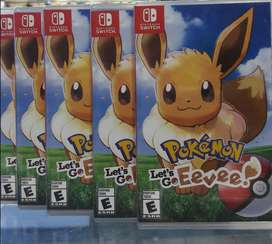 Pokemon Lets Go Eevee Nintendo Switch Nuevo Sellado Stock