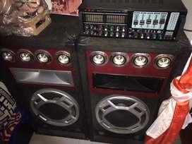 Planta de sonido equipo de sonido.