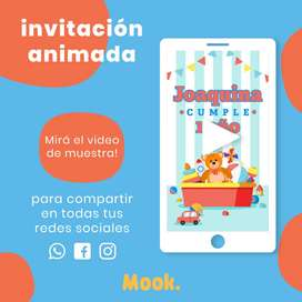 Juguetes Invitación Animada en Video
