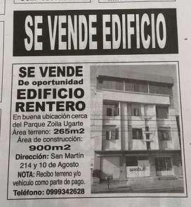 Se vende edificio rentero buena ubicacion poca antoguedad , vendedor directo nada de intermediarios de Oferta