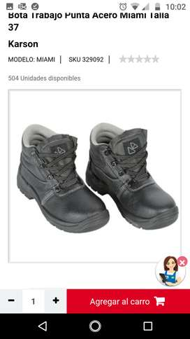 Vendo botas punta de acero talla 37