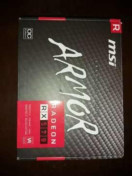 Placa De Video Msi Radeon RX570 4gb Ddr5 Nueva sin uso