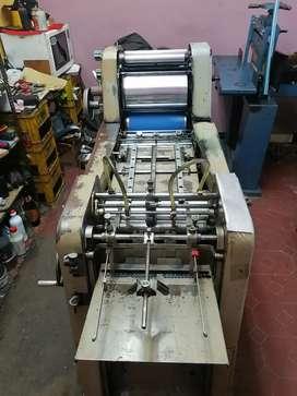 Máquinas de litografía, numerador manual y cortadora