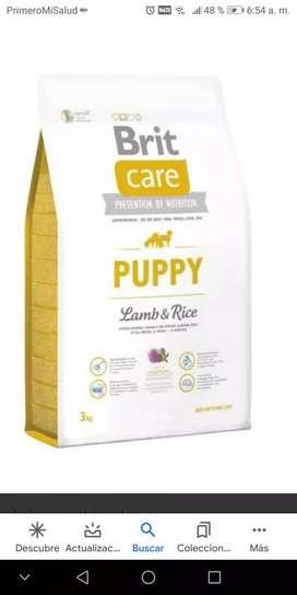 Comida Brit Care puppy de 3kg de cordero