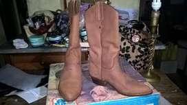 Botas Texana JR Boots Nobuk Sellada Forrada n°35-  3 usos grabación TV