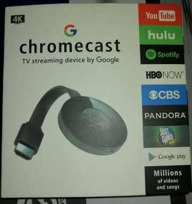 Chromecast By Google Covierte tu TV en SmartTV / 4K FULLHD