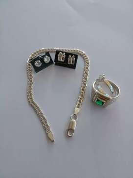 Combo joyas de plata italiana