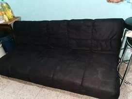Sofá-cama Negro en excelente estado