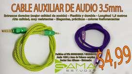 CABLE AUXILIAR DE AUDIO 3,55 mm