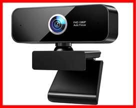 Cámara web AutoFocus 1080P, cámara web WELCAM 1080p con micrófono para PC Mac portátil escritorio