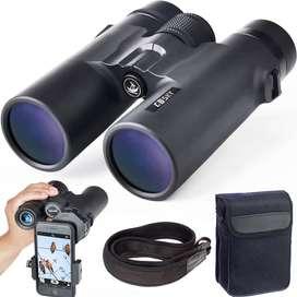 binoculares prismáticos profesionales HD para observación de aves, viajes, caza, conciertos, deportes, BAK4, prisma FMC