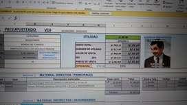 Pequeño sistema de presupuesto, cotización y de asistencia