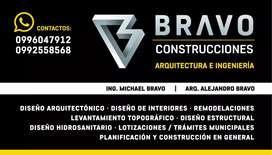 Levantamientos,  diseño y construcción.