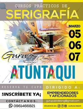 CURSO DE SERIGRAFÍA TEXTIL ATUNTAQUI