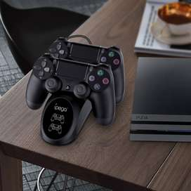IPega PG-9180 Base de carga Dual Base de carga Estación de soporte para Sony para Playstation 4 para PS4 juego