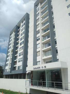 Arrendo apartamento edificio Solarium (Popayán) tres habitaciones dos baños como nuevo. $1.200.000 mensual incluye Admin