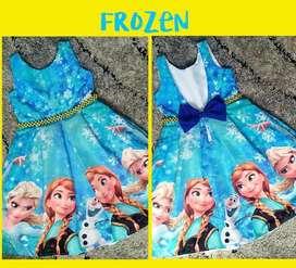 Vestido de Fiesta Frozen Escote en V