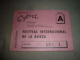 antiguo abono 10 funciones TEATRO OPERA 1958 Ballet de BERLIN TAMARA TOUMANOVA DORE HOYER