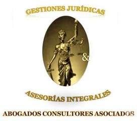 Abogados a su servicio, gestiones legales & asesorías integrales