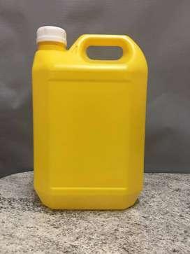 Bidon Plastico Amarillo 5 Lt con tapa a rosca. C/U 30.00
