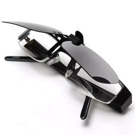Gafas de sol de sobreponer clip on montura ilusión Of Time
