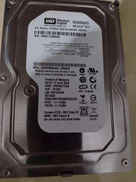 Disco rígido Sata 320 GB western  digital