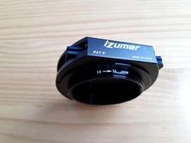 PortaFiltro Izumar y Anillo Adaptador de 58 a 55 mm