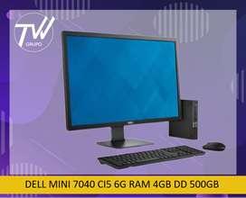 DELL MINI 7040 CI5 6GEN RAM 8GB DISCO DURO 500 GB.