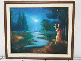 Cuadro decorativo con pintura de paisaje natural