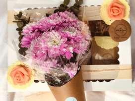 Desayuno Premium con flores