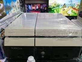 Consola PS4 fat de 500gb con 1 control y 1 juego