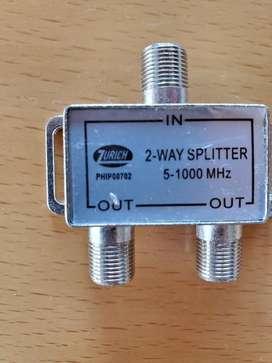 Divisor derivador frecuencia 2 vías way 5-1000 Mhz splitter
