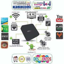 Tv Box 4K Ram 1 GB, D.D 8 GB, Quad Core Convertidor De TV A Smart TV