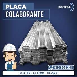 Placa Colaborante Pernos Conectores Fabricación