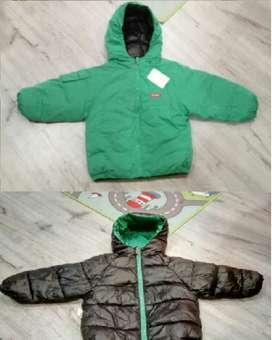 chaqueta acolchada niño impermeable doble faz