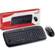Teclado y Mouse Genius USB. Kit C110. NUEVOS