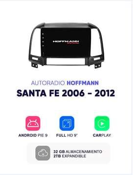 Autoradio Hoffmann Homologado Hyundai Santa Fe 2006 - 2012 9″ CarPlay Android 9.1