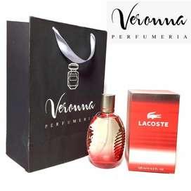 Perfume Locion Lacoste Red Clásica Original 125 Ml Veronna