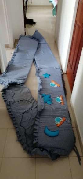Protector de barandas cama cuna doble