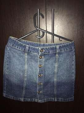 Falda de jean en degrade
