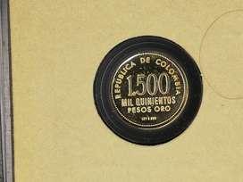 Moneda Conmemorativa De Oro 1500 Pesos Oro Colombia