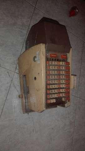 Maquina Antigua Hedman Gravador de Chequ