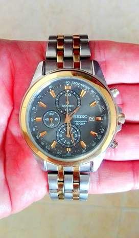 Reloj Seiko Crono 100m Original Poco Uso Impecable