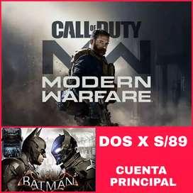 Call of duty modern Warfare+Batman AN.