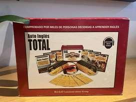 AUTO INGLES TOTAL - CON CD PLAYER PORTATIL - 18 DISCOS COMPACTOS - 6 GUÍAS