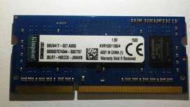 RAM para Laptop Kingston 4GB DDR3 (1600Mhz)